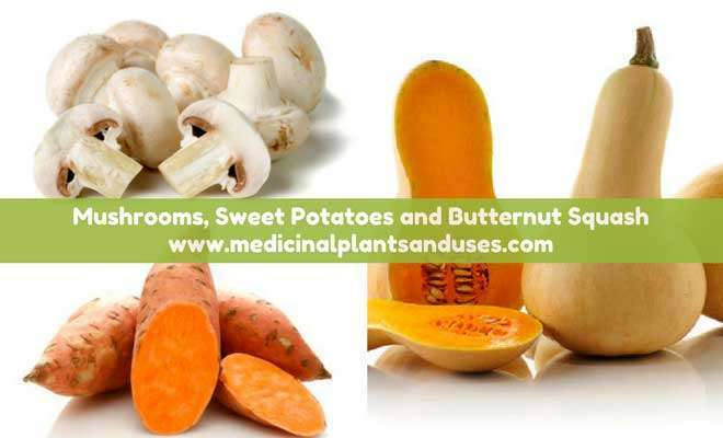 Mushrooms and Sweet Potatoes