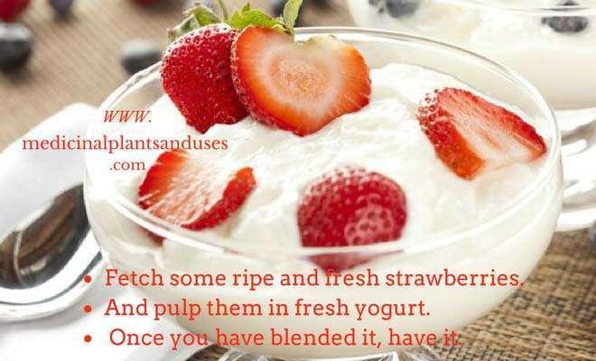 strawberries and yogurt for dizziness