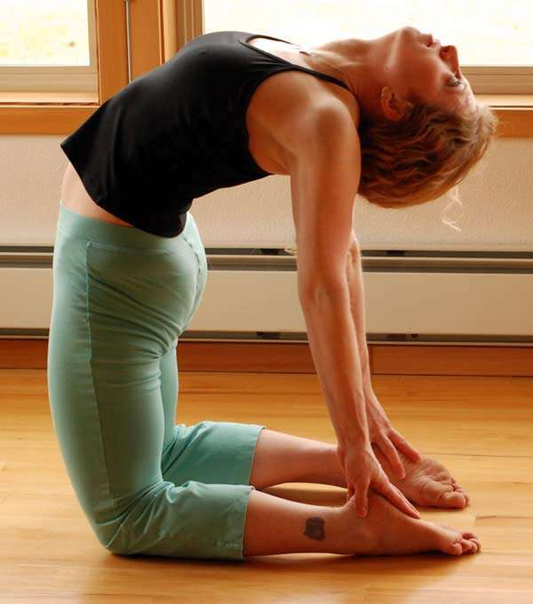 ustrasana (the camel pose)