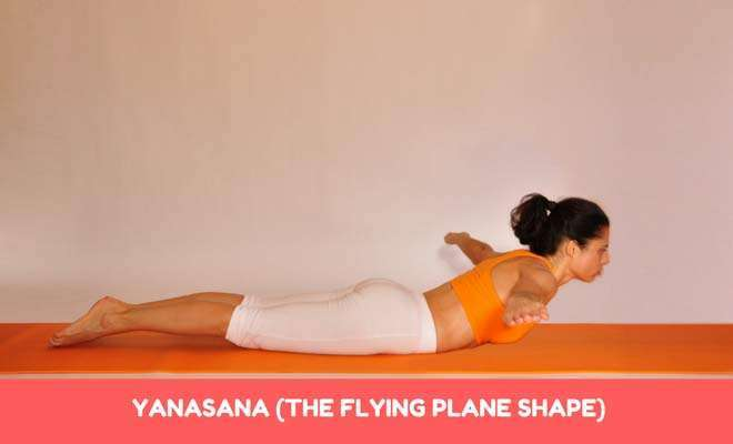 yanasana (the flying plane shape)