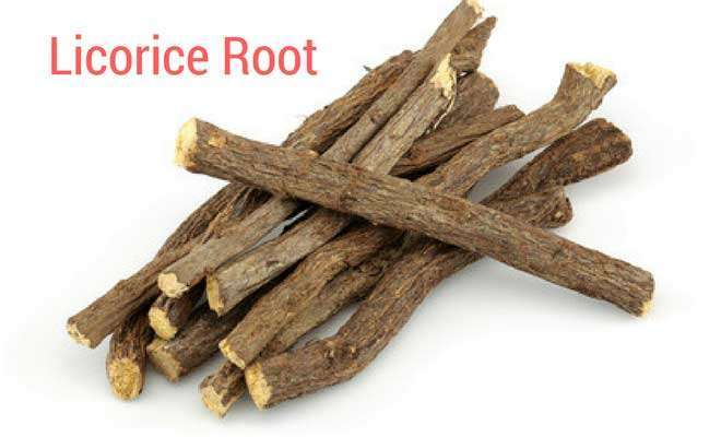 Licorice root for throat infection