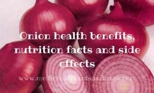 Onion health benefits, nutrition facts and side effects