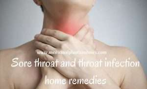 Sore throat and throat infection home remedies, causes and symptoms