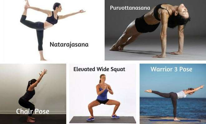 Yoga asanas for buttocks and thighs