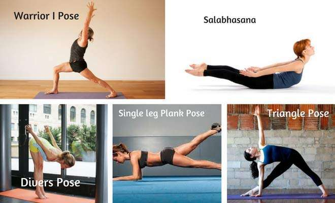 Yoga poses to make thighs and hips in shape