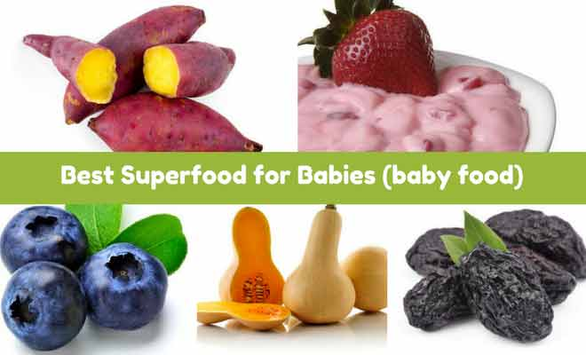 Healthy food for babies to gain weight and brain